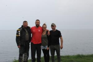 Das letzte Gruppenfoto mit Sarah und Rüdiger