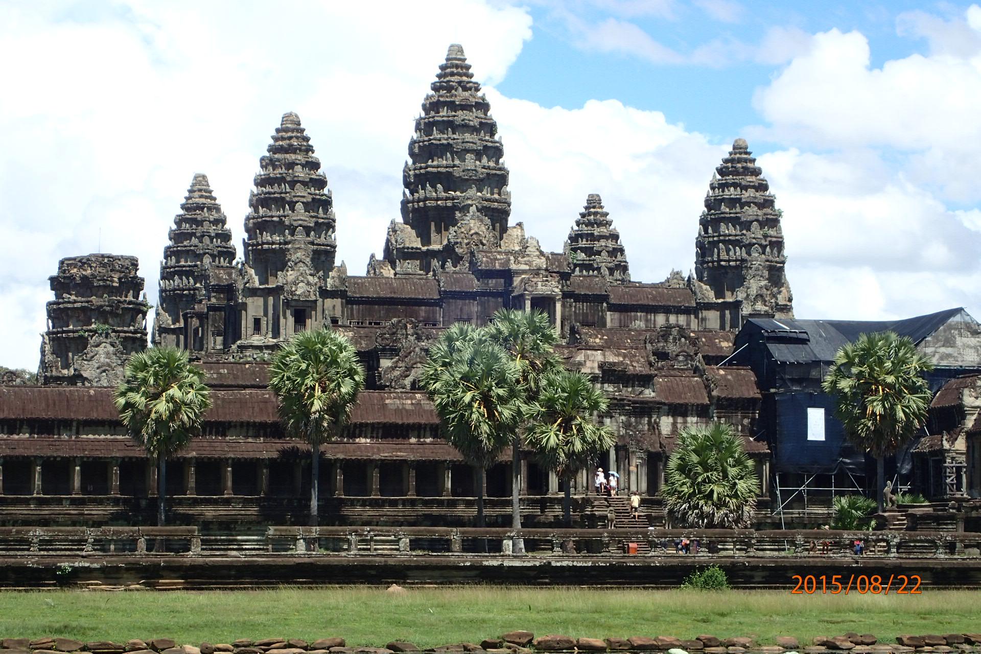 Endlich angekommen, das ist das berühmte Angkor Wat